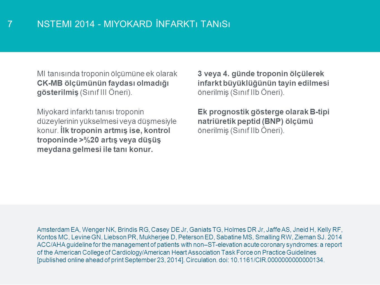 NSTEMI 2014 - Miyokard İnfarktı Tanısı