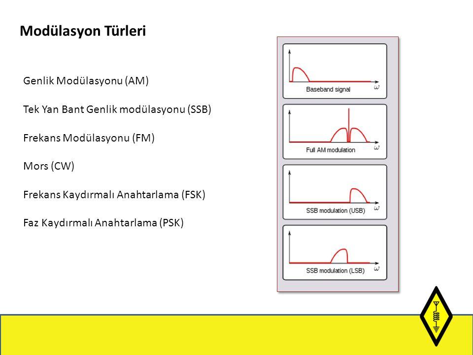 Modülasyon Türleri Genlik Modülasyonu (AM)