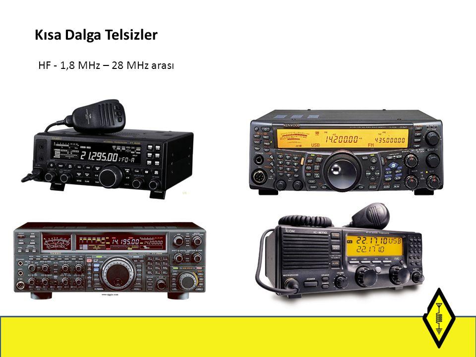 Kısa Dalga Telsizler HF - 1,8 MHz – 28 MHz arası