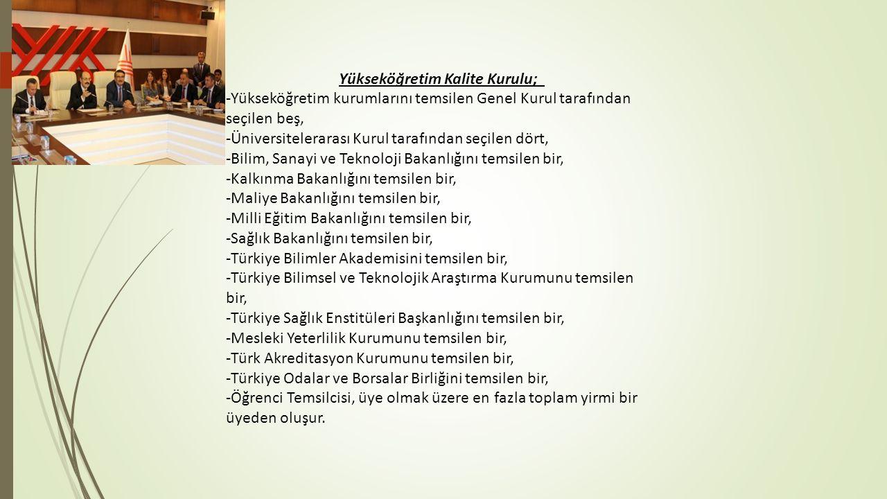 Yükseköğretim Kalite Kurulu;