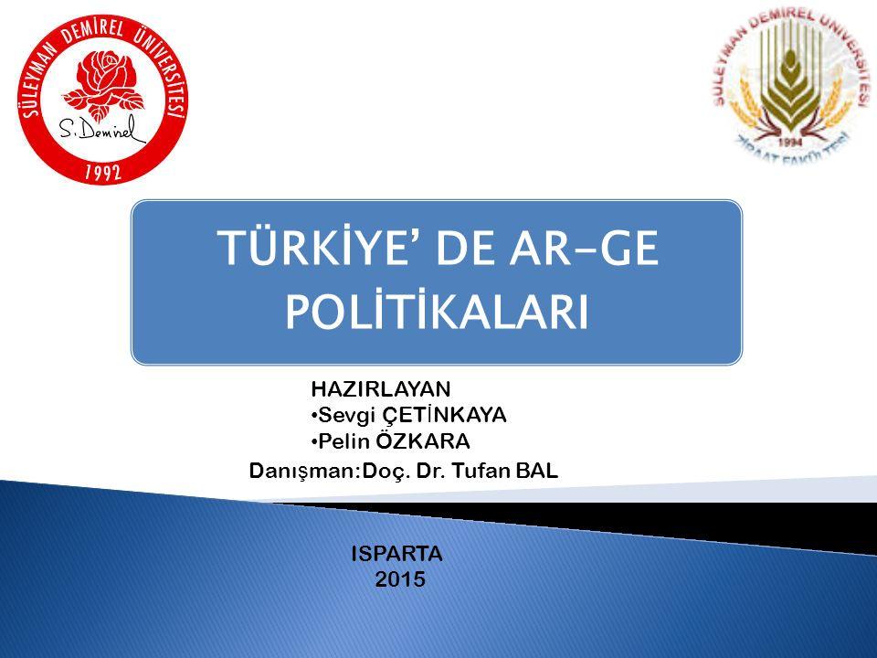 TÜRKİYE' DE AR-GE POLİTİKALARI