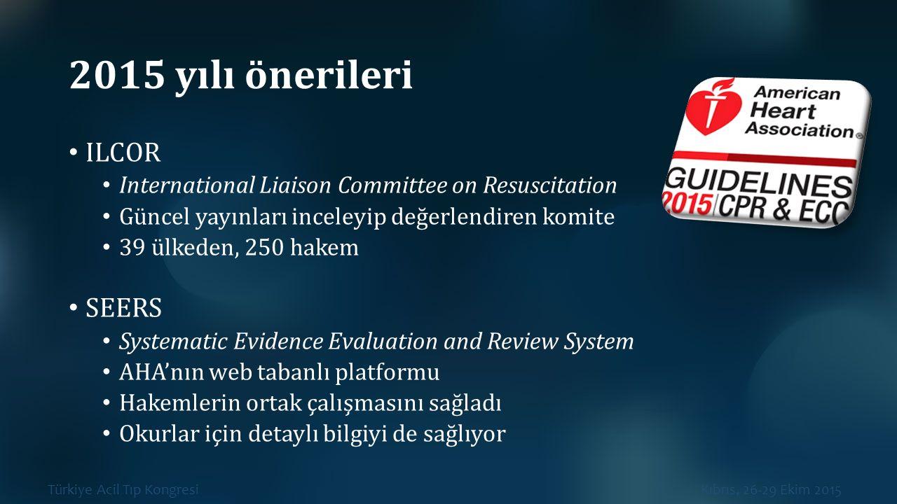 2015 yılı önerileri ILCOR SEERS