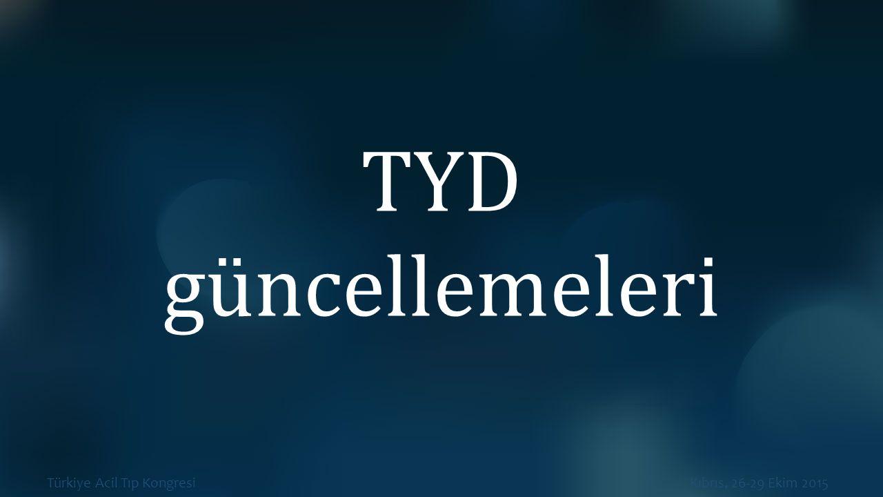 TYD güncellemeleri