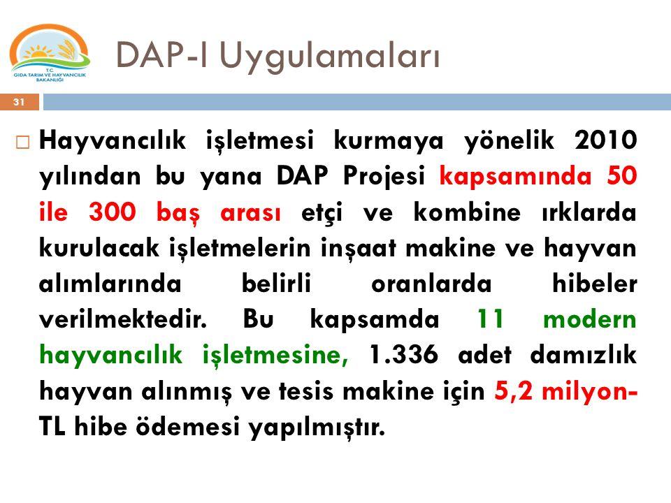 DAP-I Uygulamaları