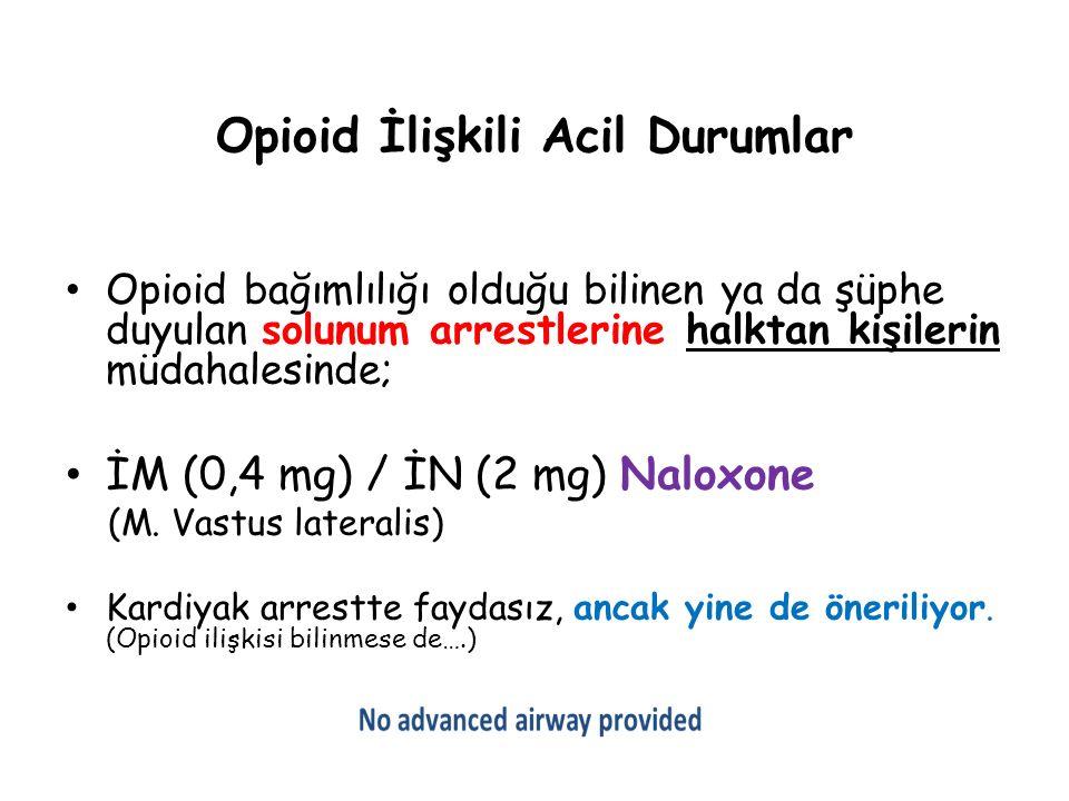 Opioid İlişkili Acil Durumlar