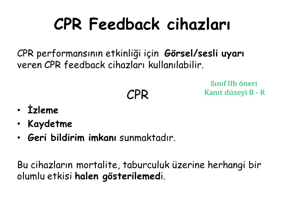 CPR Feedback cihazları