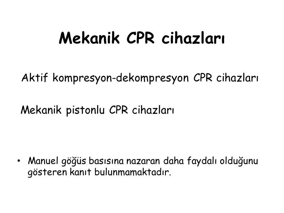 Mekanik CPR cihazları Aktif kompresyon-dekompresyon CPR cihazları