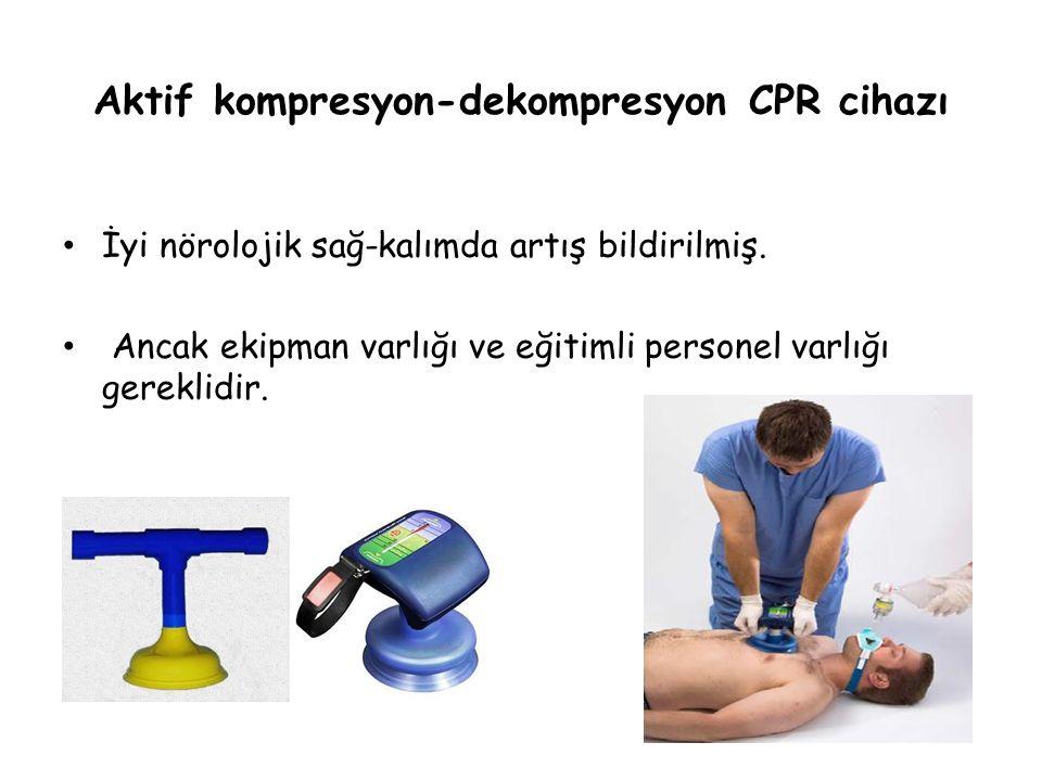 Aktif kompresyon-dekompresyon CPR cihazı