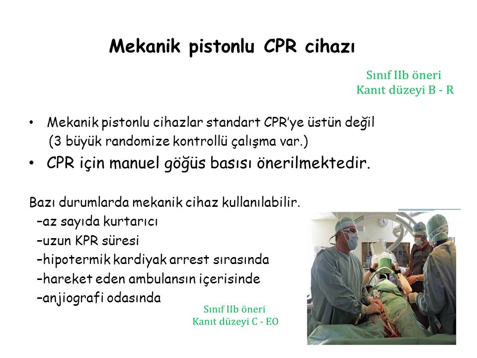 Mekanik pistonlu CPR cihazı