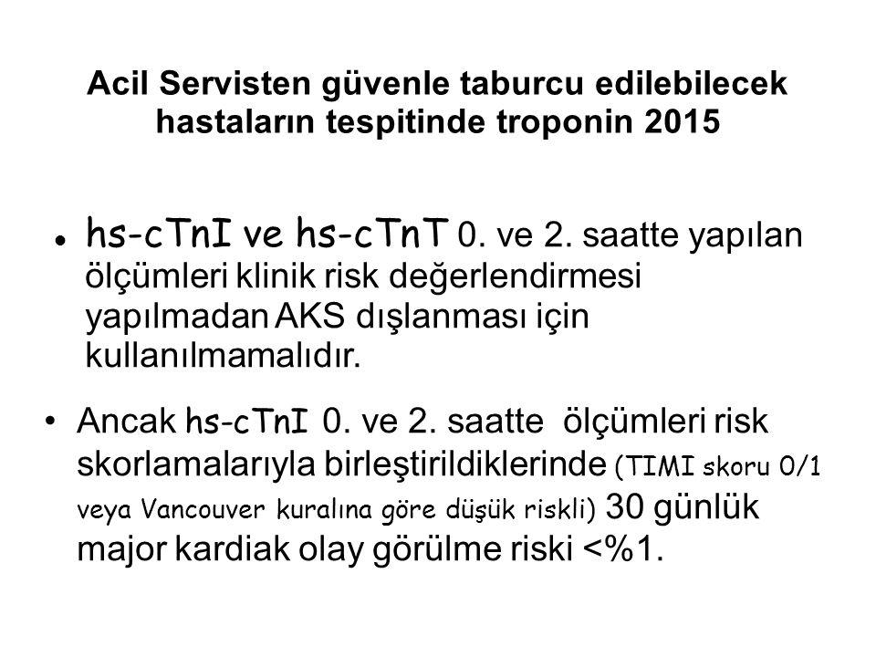Acil Servisten güvenle taburcu edilebilecek hastaların tespitinde troponin 2015