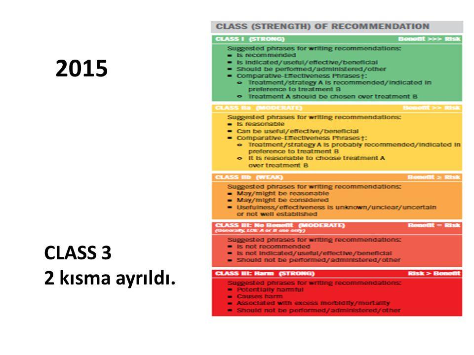 2015 CLASS 3 2 kısma ayrıldı.