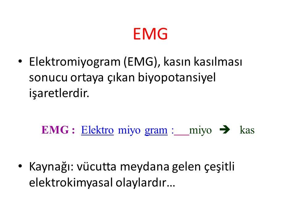 EMG : Elektro miyo gram : miyo  kas