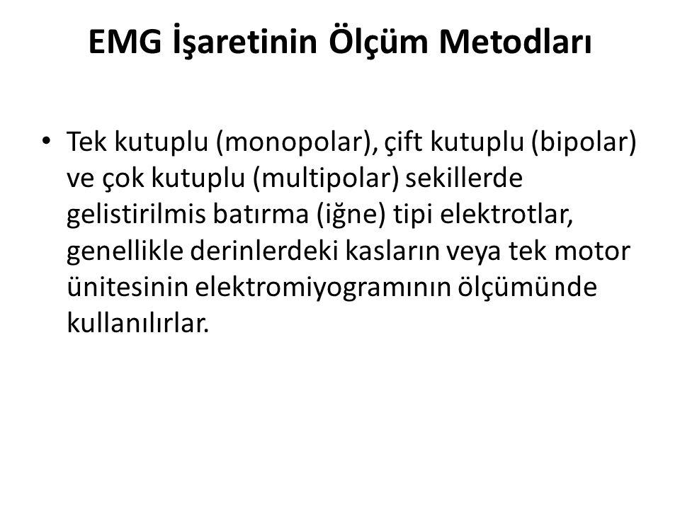 EMG İşaretinin Ölçüm Metodları