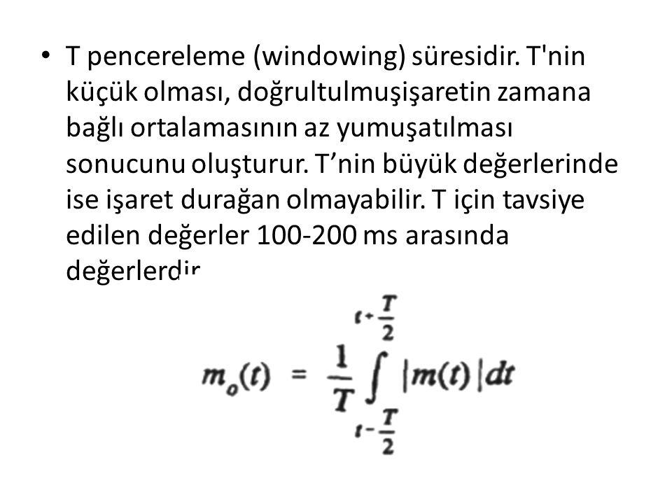 T pencereleme (windowing) süresidir