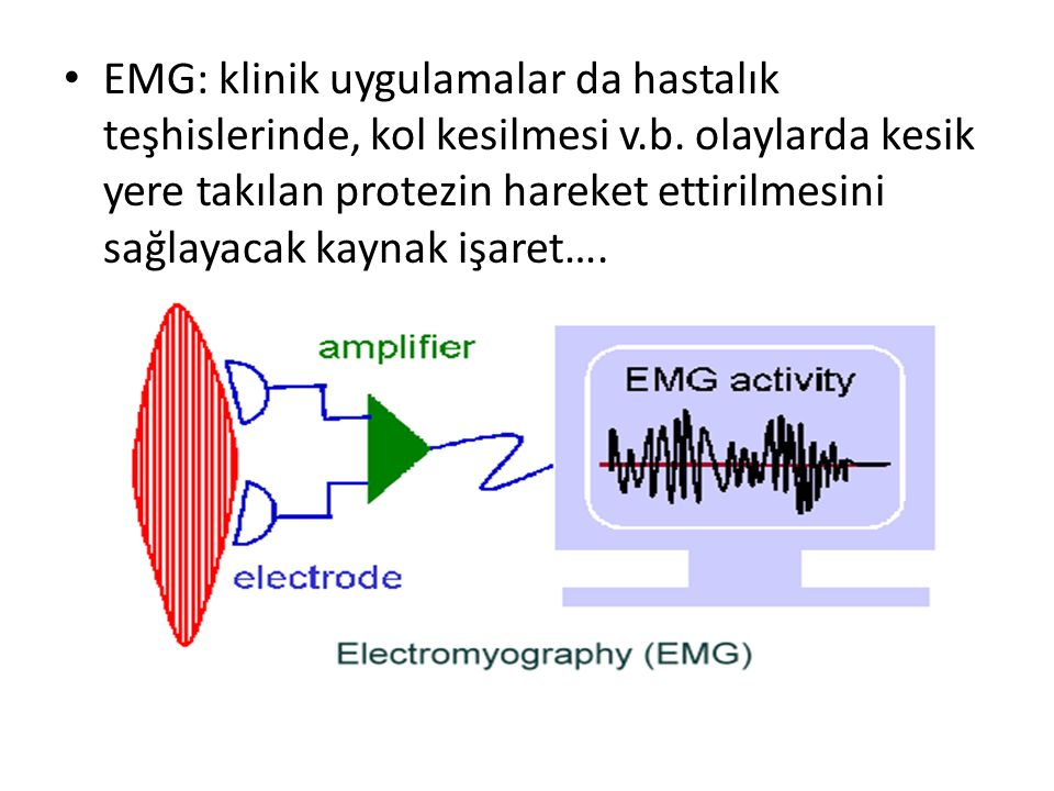 EMG: klinik uygulamalar da hastalık teşhislerinde, kol kesilmesi v. b