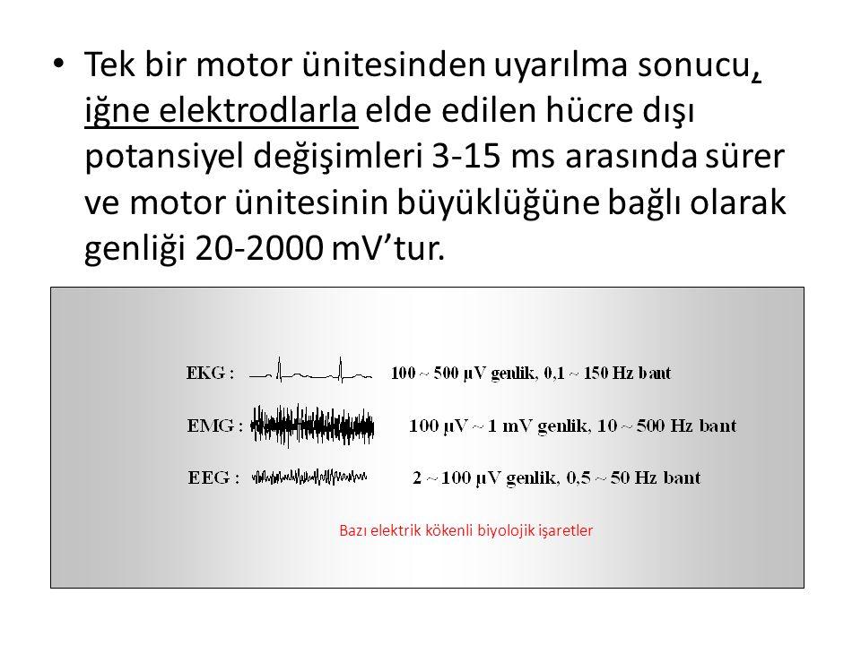 Bazı elektrik kökenli biyolojik işaretler