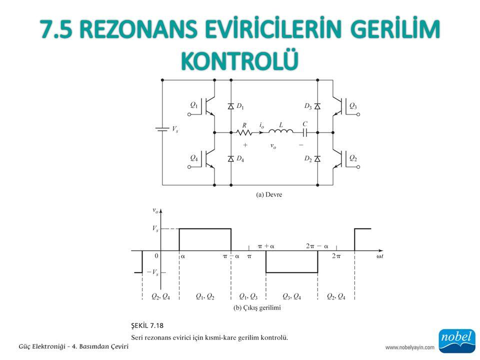 7.5 Rezonans EVİRİCİLERİN GERİLİM Kontrolü