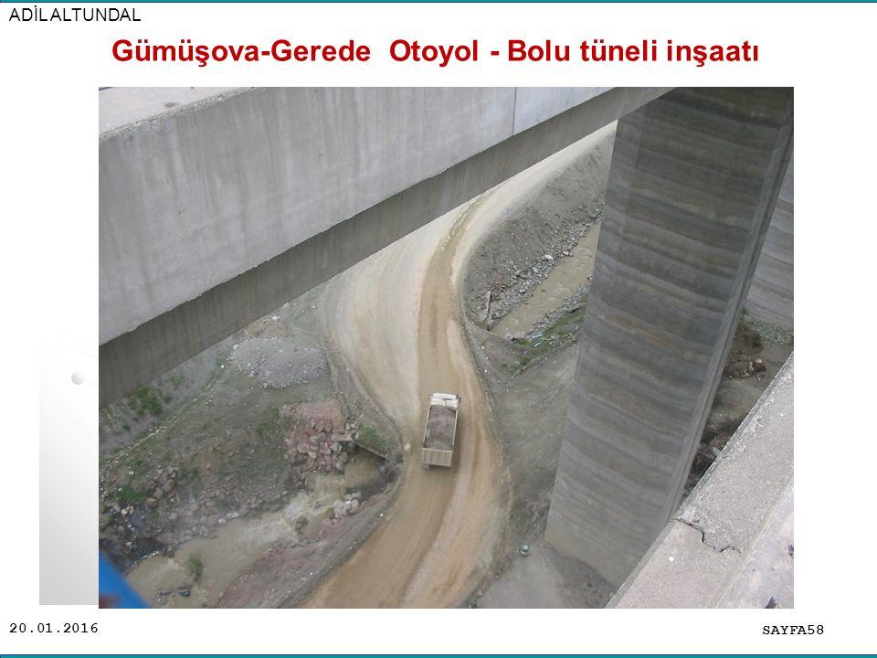 Gümüşova-Gerede Otoyol - Bolu tüneli inşaatı