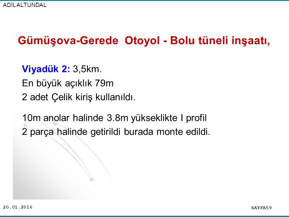 Gümüşova-Gerede Otoyol - Bolu tüneli inşaatı,