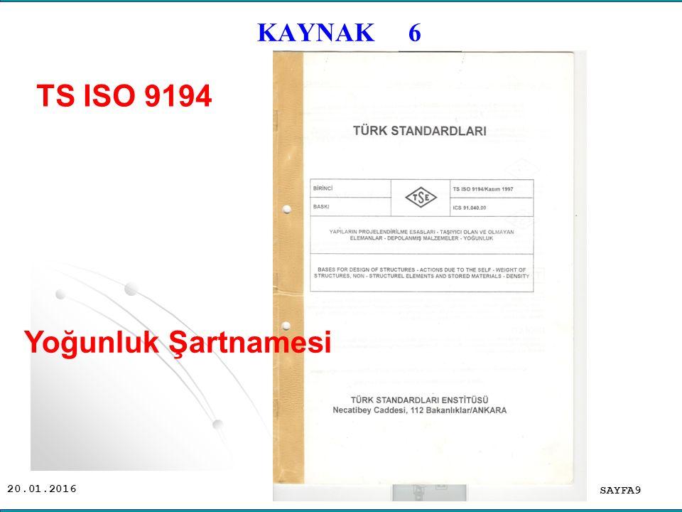 TS ISO 9194 Yoğunluk Şartnamesi