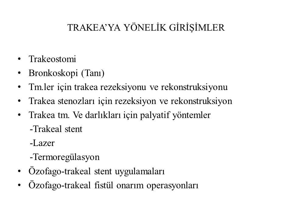 TRAKEA'YA YÖNELİK GİRİŞİMLER