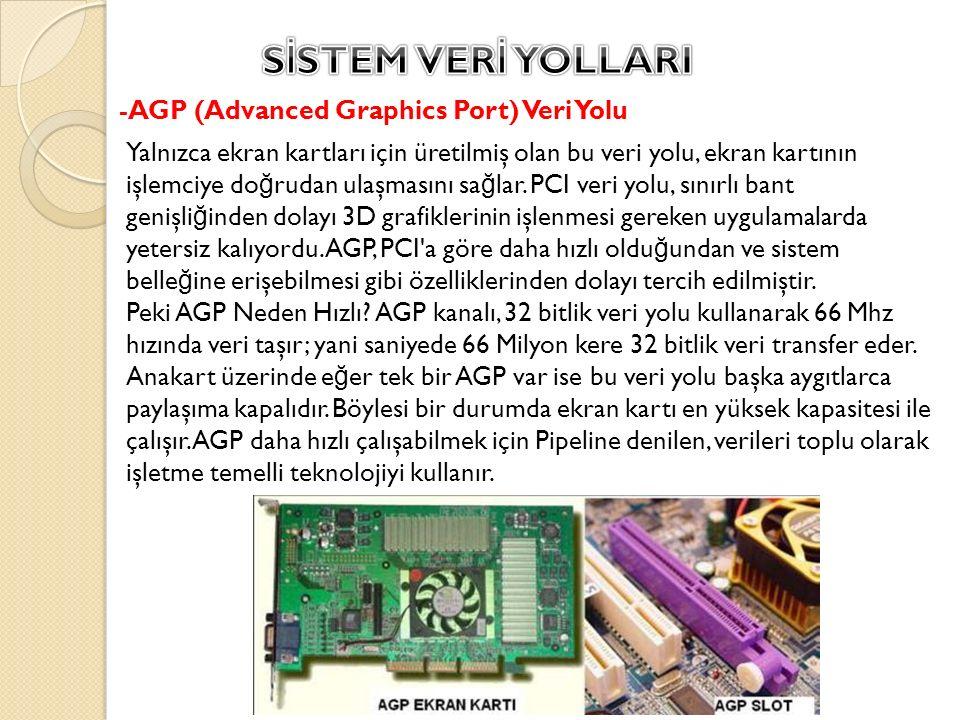 SİSTEM VERİ YOLLARI -AGP (Advanced Graphics Port) Veri Yolu
