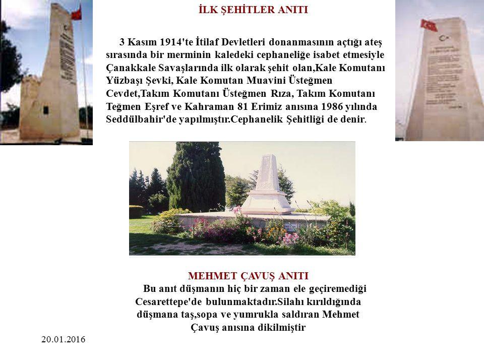 İLK ŞEHİTLER ANITI