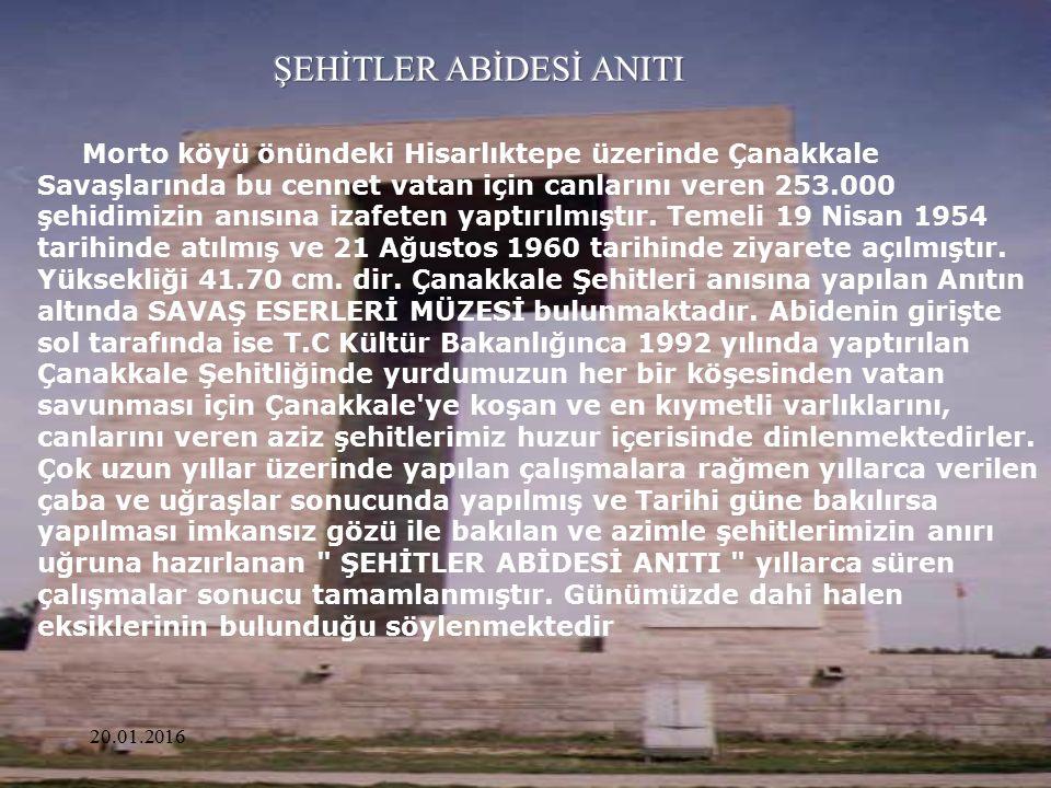 ŞEHİTLER ABİDESİ ANITI