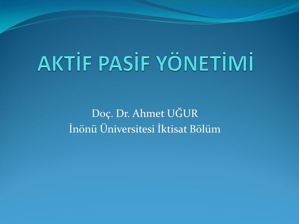 Doç. Dr. Ahmet UĞUR İnönü Üniversitesi İktisat Bölüm