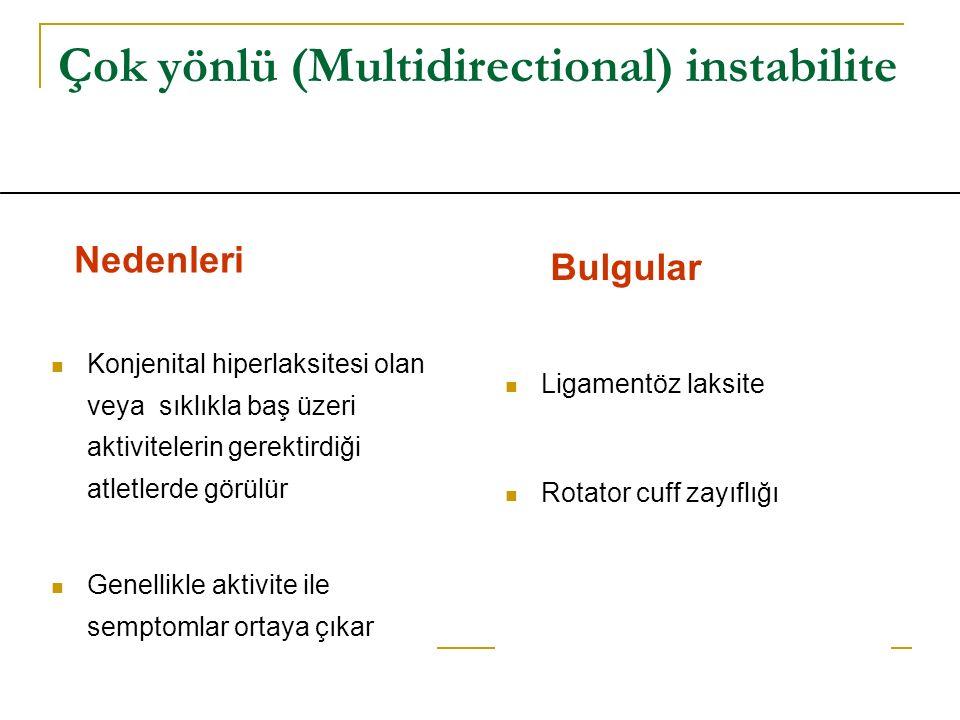 Çok yönlü (Multidirectional) instabilite