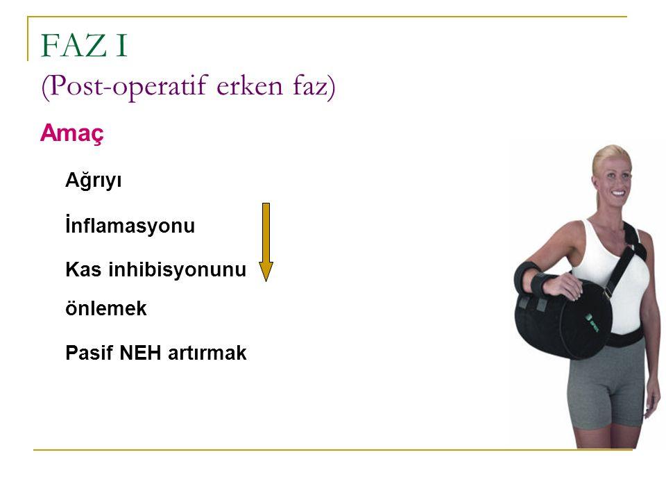 FAZ I (Post-operatif erken faz)