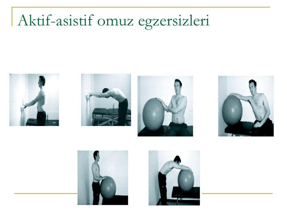 Aktif-asistif omuz egzersizleri