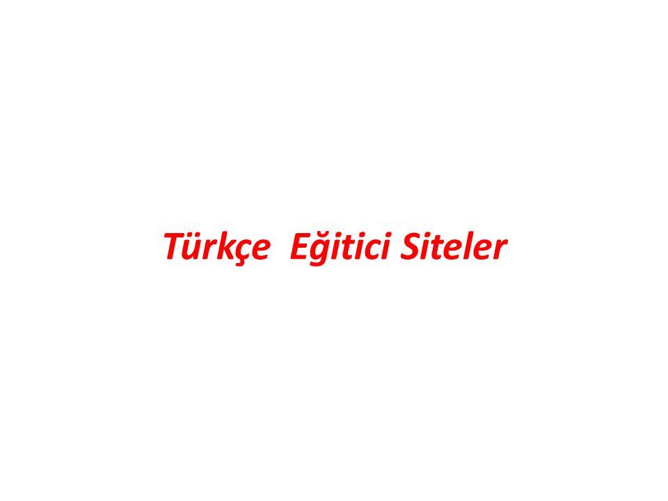 Türkçe Eğitici Siteler