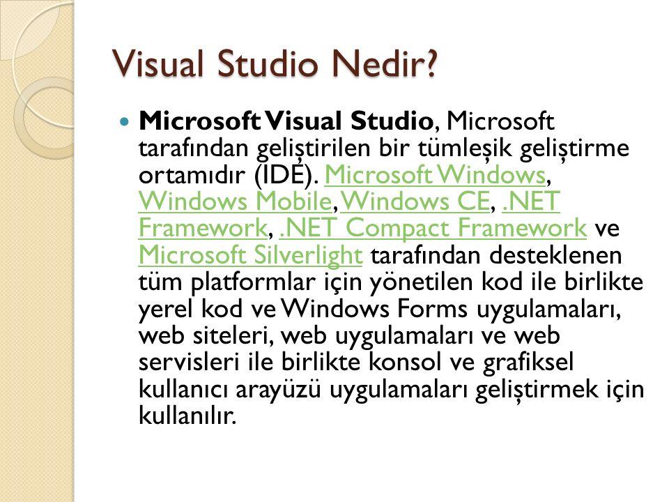 Visual Studio Nedir