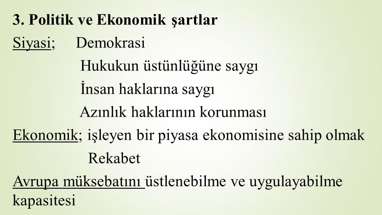3. Politik ve Ekonomik şartlar