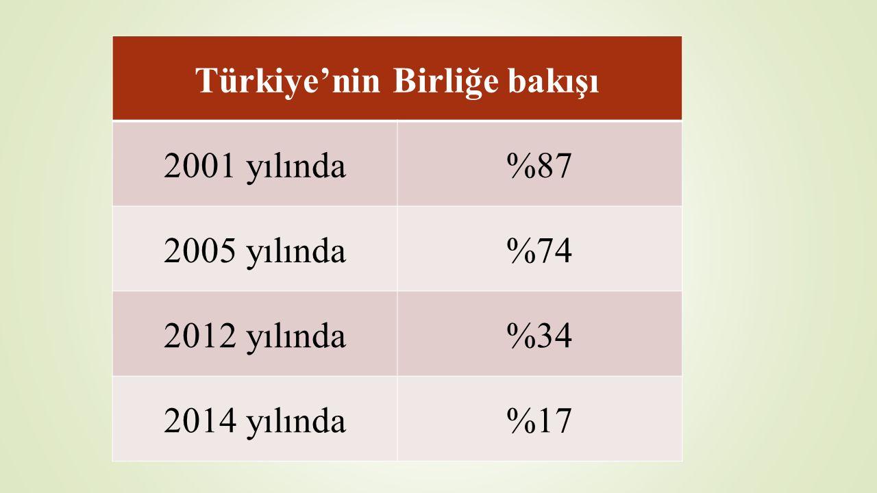 Türkiye'nin Birliğe bakışı