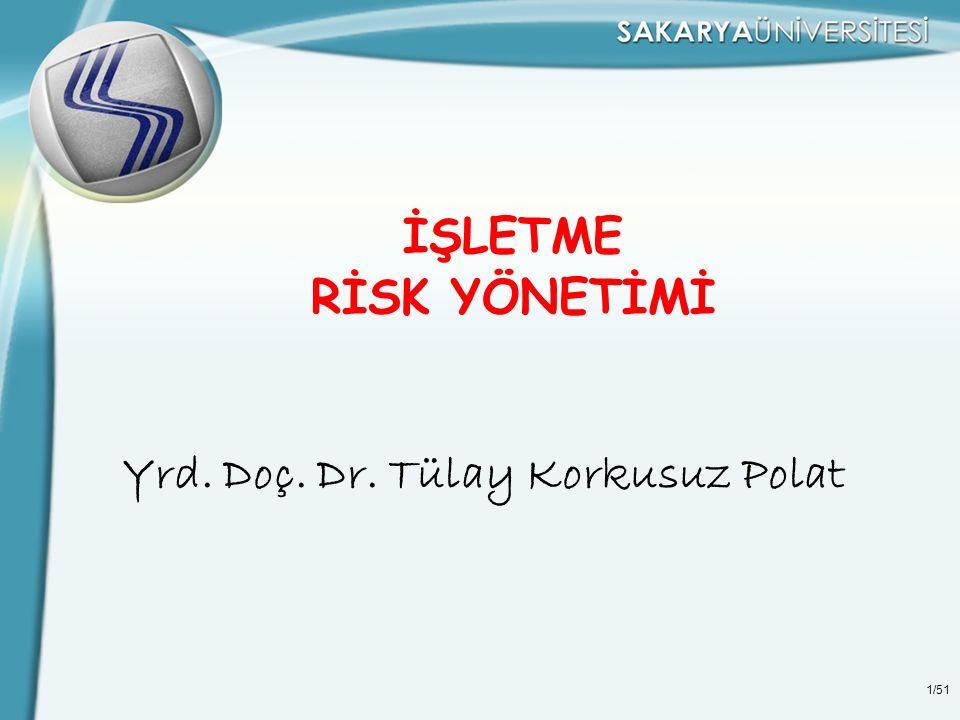 İŞLETME RİSK YÖNETİMİ Yrd. Doç. Dr. Tülay Korkusuz Polat