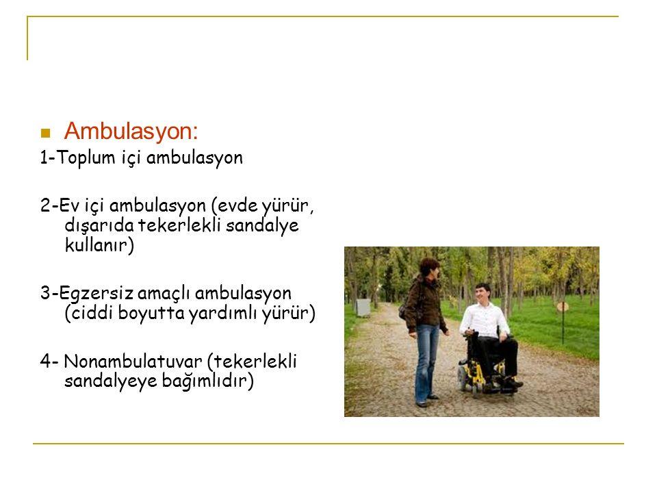 Ambulasyon: 1-Toplum içi ambulasyon