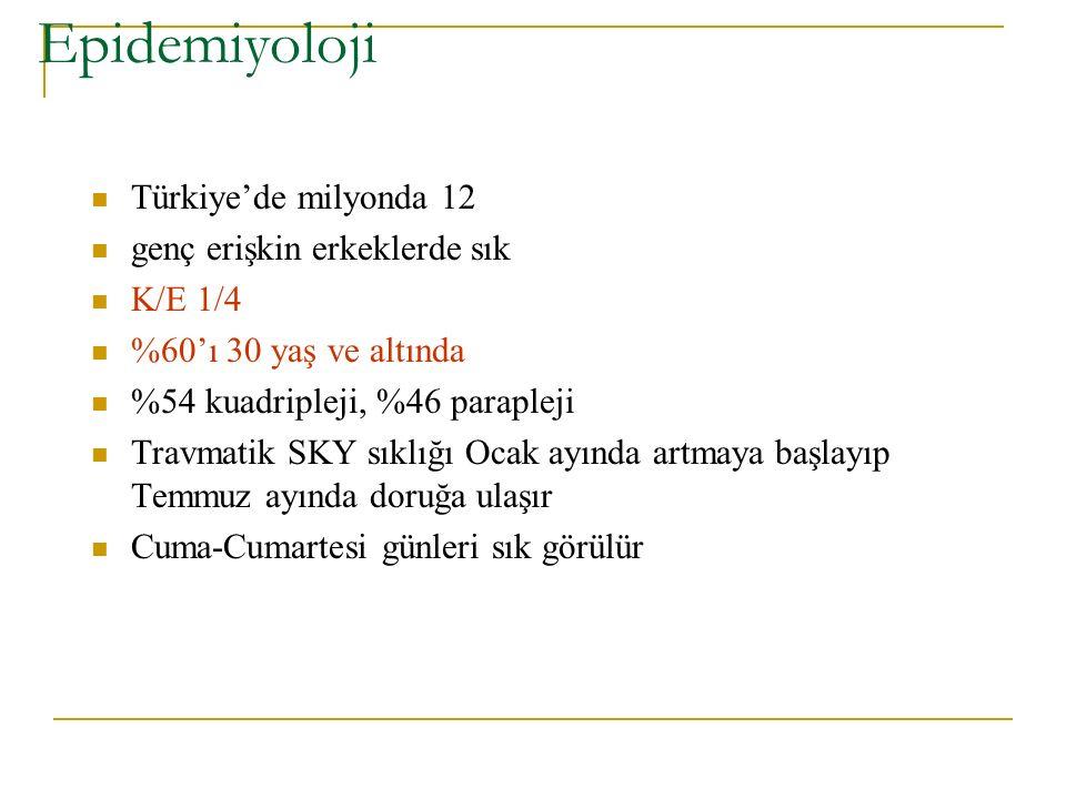 Epidemiyoloji Türkiye'de milyonda 12 genç erişkin erkeklerde sık