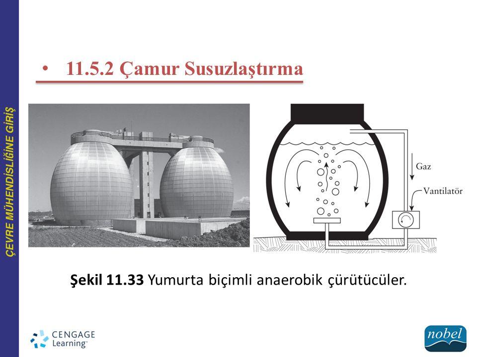 Şekil 11.33 Yumurta biçimli anaerobik çürütücüler.