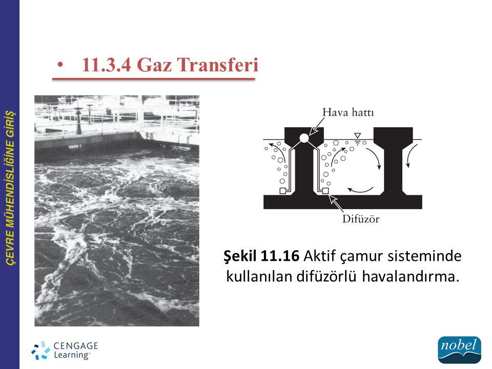 Şekil 11.16 Aktif çamur sisteminde kullanılan difüzörlü havalandırma.