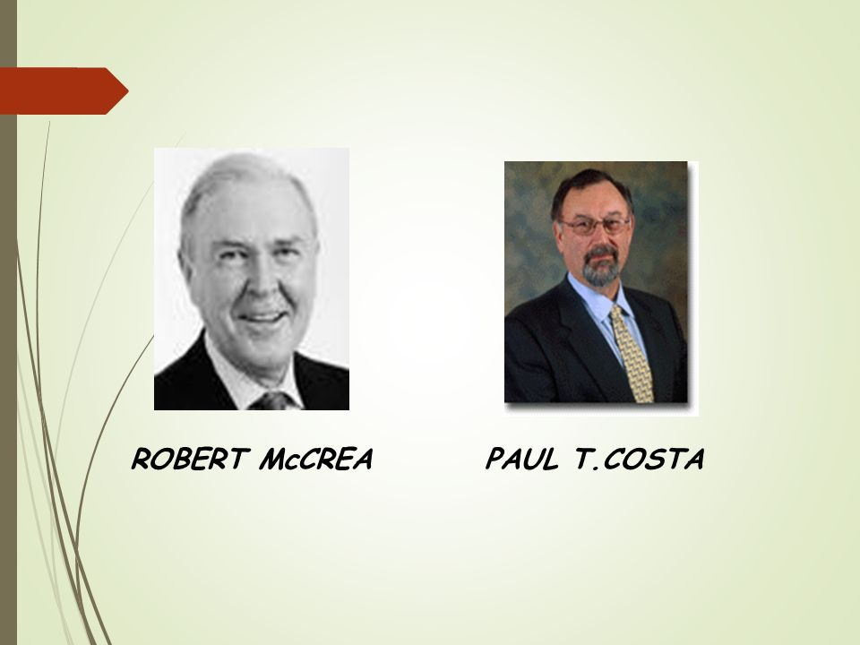 ROBERT McCREA PAUL T.COSTA