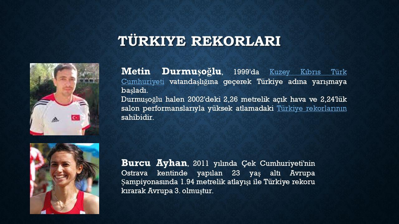 Türkiye rekorlarI Metin Durmuşoğlu, 1999 da Kuzey Kıbrıs Türk Cumhuriyeti vatandaşlığına geçerek Türkiye adına yarışmaya başladı.