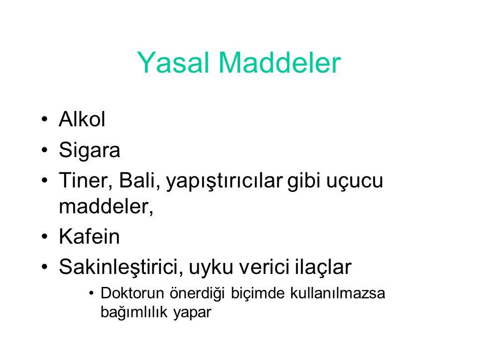 Yasal Maddeler Alkol Sigara