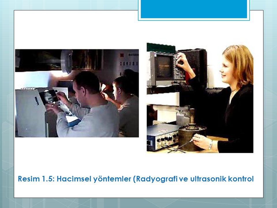 Resim 1.5: Hacimsel yöntemler (Radyografi ve ultrasonik kontrol