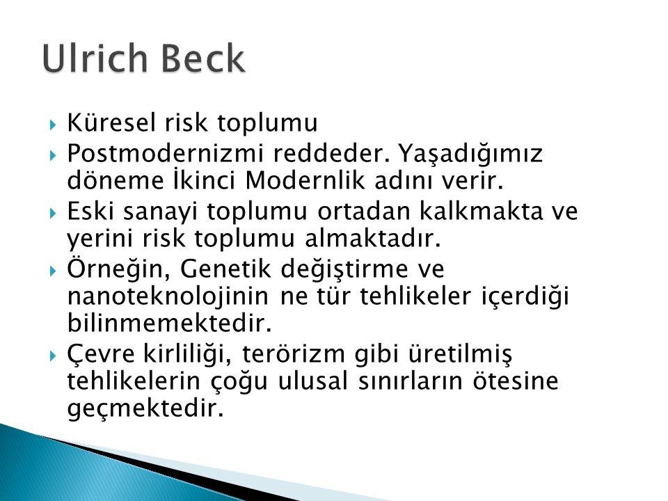 Ulrich Beck Küresel risk toplumu