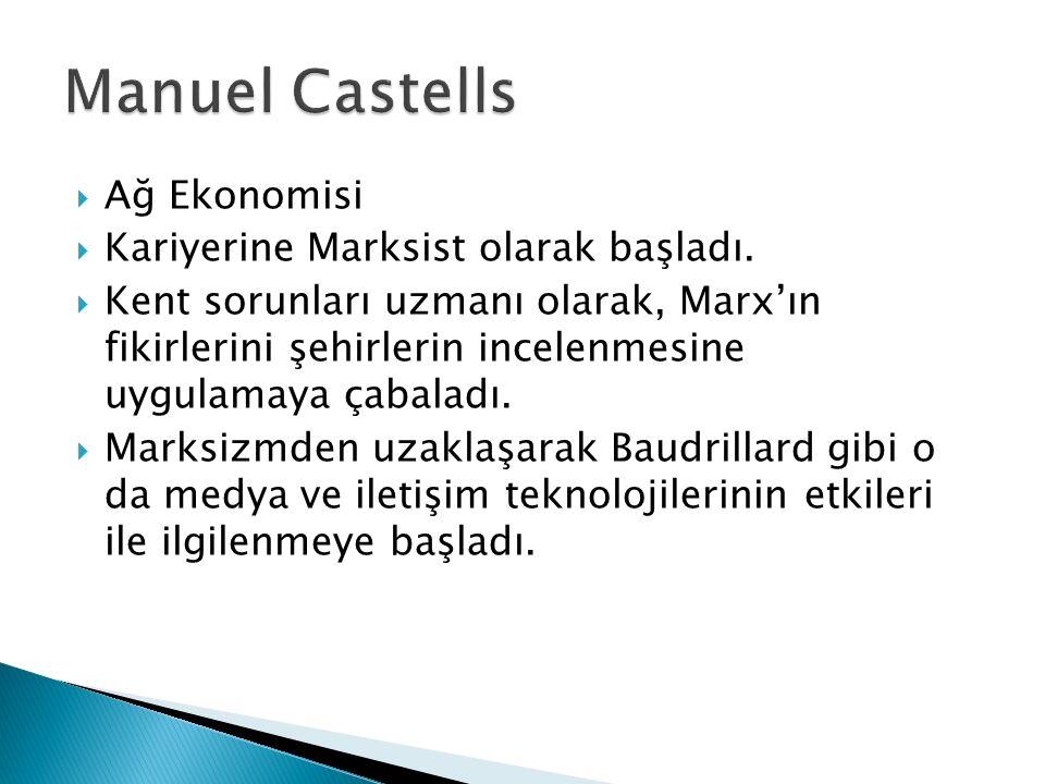 Manuel Castells Ağ Ekonomisi Kariyerine Marksist olarak başladı.