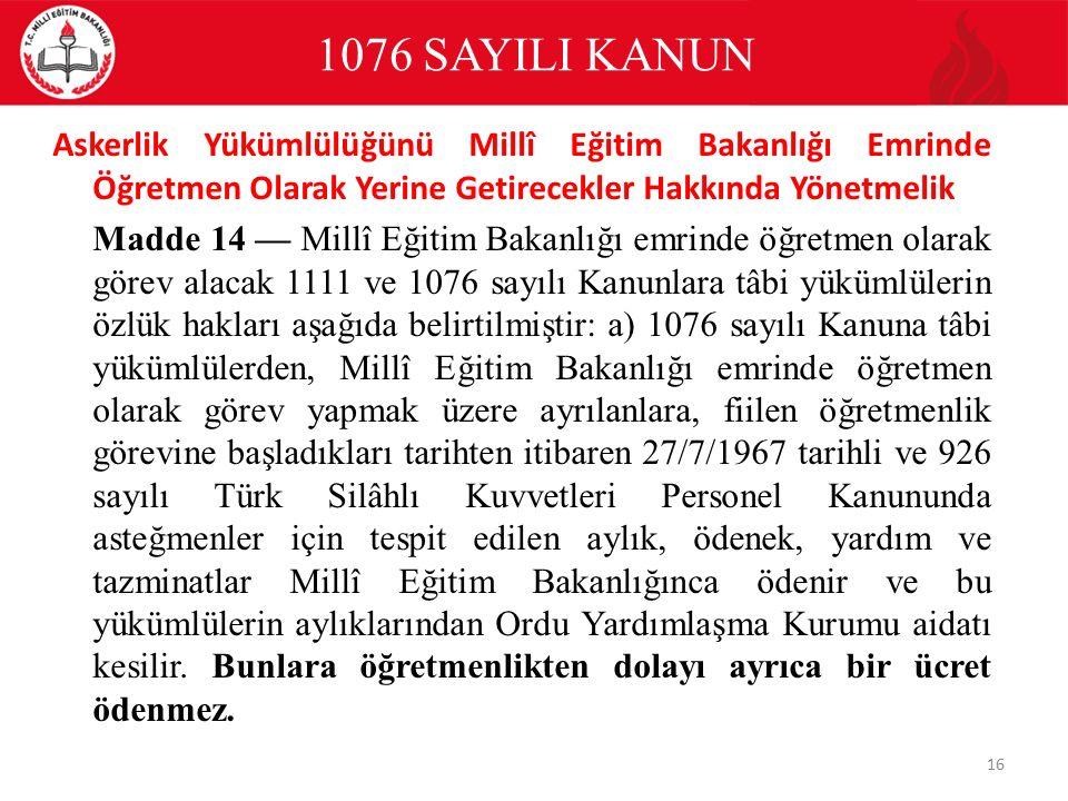 1076 SAYILI KANUN