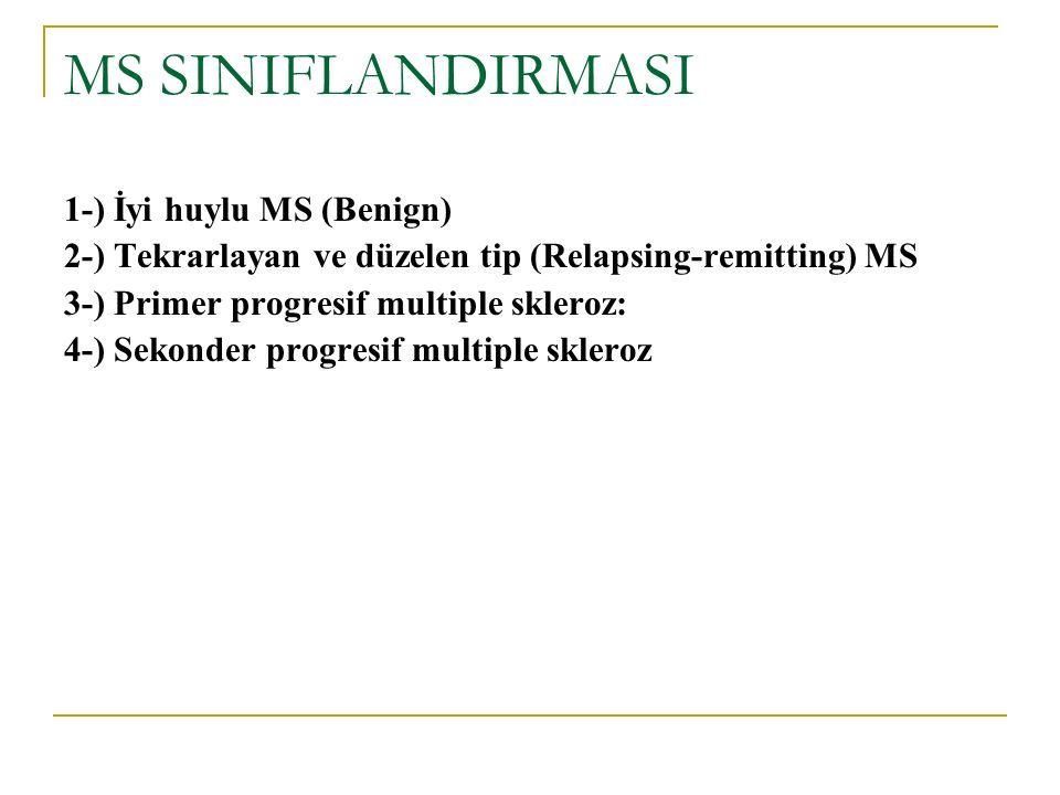 MS SINIFLANDIRMASI 1-) İyi huylu MS (Benign)