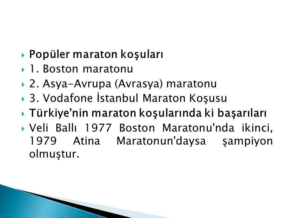Popüler maraton koşuları